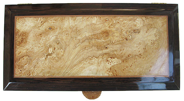 Spalted maple burl centered box top - Handcrated wood box, keepsake box