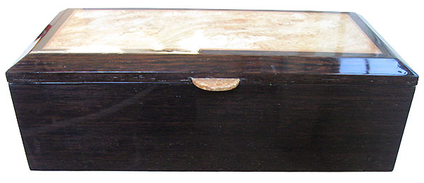 Venge box front - Handcrafted wood box, keepsake box