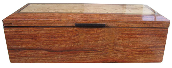 Caribbean rosewood box front - Handcrafted wood keepsake box