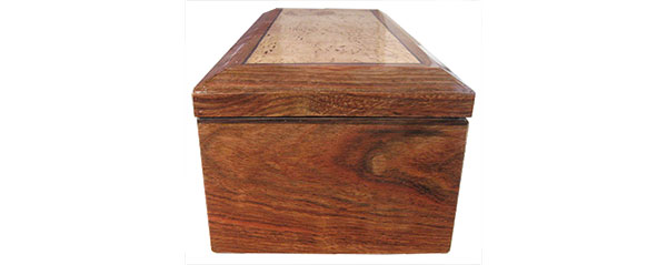 Cribbean rosewood box side - Handcrafted wood box