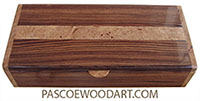 Handcrfted wood box - Keepsake bo made of Honduras rosewood with  maple burl inlayed top and maple burl ends
