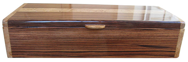 Honduras rosewood box front - Handcrafted wood box