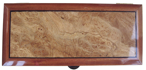 Spalted maple burl box top - Handcrafted wood keepsake box