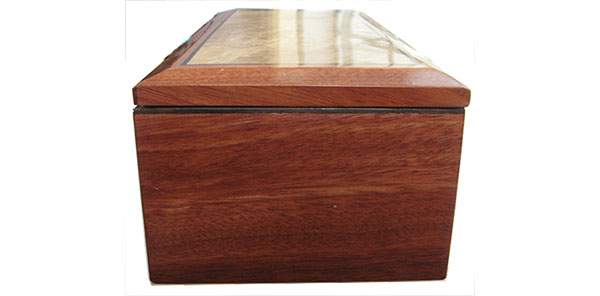 Bloodwood box side - Handcrafted wood box