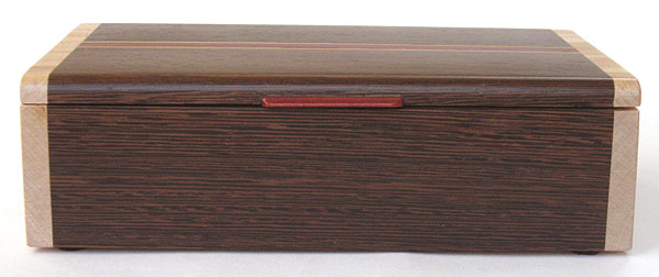 Wenge box front - Handmade decorative keepsake box