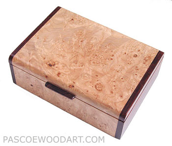 Maple burl box - Handmade wood box