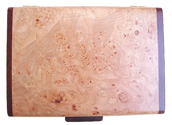 Maple burl box top - Handmade keepsake box