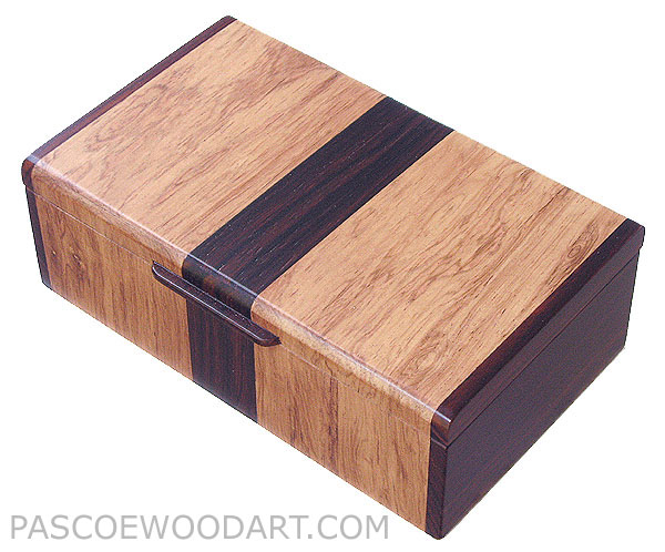 Handmade wood box -  Decorative wood keepsake box made of Honduras rosewood, cocobolo