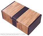 Decorative wood keepsake box