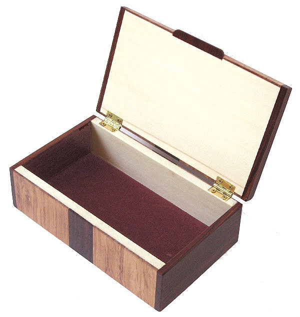 Handmade wood box - open view