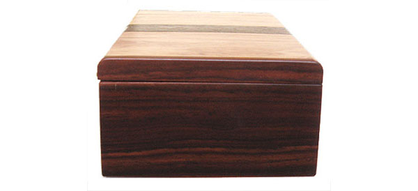 Handmade wood box - cocobolo box end