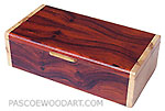 Handmade wood keepsake box - Cocobolo box with maple burl ends