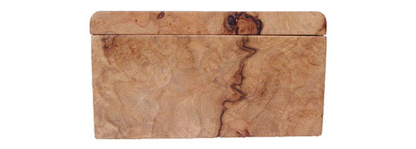 Maple burl wood box end - Handmade keepsake box