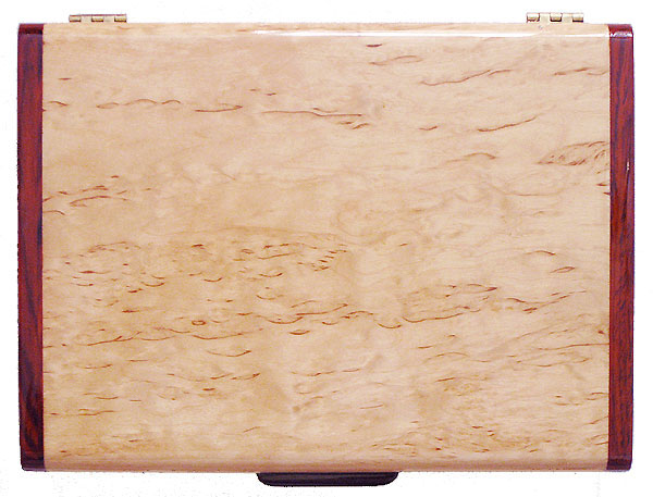 Karelian birch burl box top - Handmade wood keepsake box