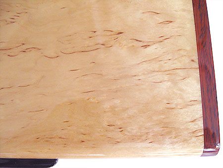 Karelian birch burl box top close-up