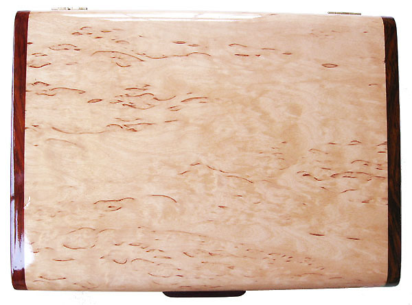 Karelian birch burl box top - Decorative wood keepsake box