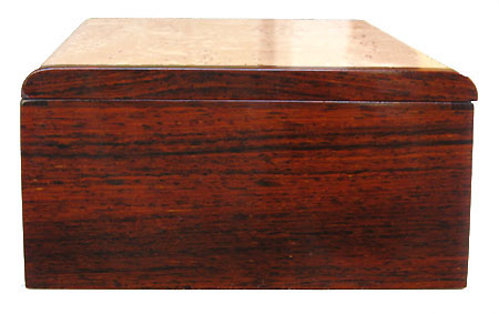 Cocobolo box end - Handmade wood keepsake box