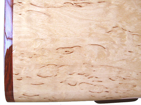 Karelian birch burl box top - close-up - Decorative keepsake box