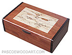 Handmade wood keepsake box, photo box - Bubinga, spalted maple, bois de rose
