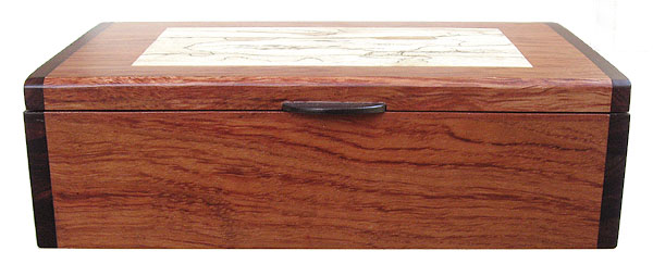 Handmade bubinga wood box - front view