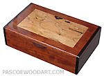 Handcrafted wood box - Decorative wood keepsake box made of bubinga, spalted maple, bois de rose