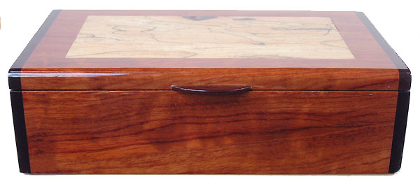 Handmade wood box - keepsake box - bubinga front view