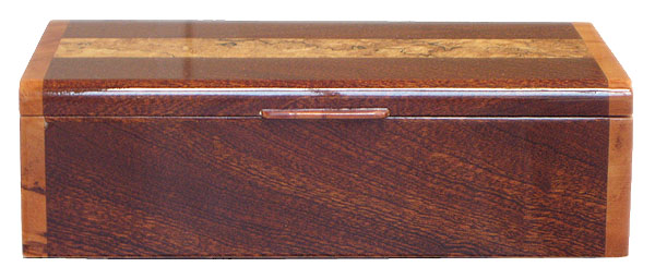 Handmade wood box - sapele box front