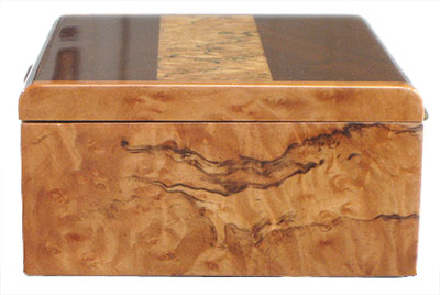 Madrone box end - Decorative keepsake box