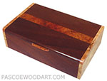 Decorative wood keepsake box - Handcrafted wood box made of sapele, madrone burl, spalted maple burl