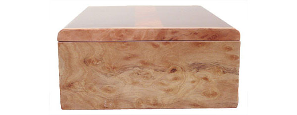 Madrone burl box end - Handmade decorative keepsake box