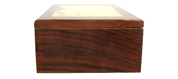 East Indian rosewood box - side view
