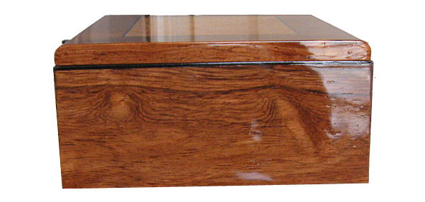 Handcrafted wood box - Honduras rosewood box end