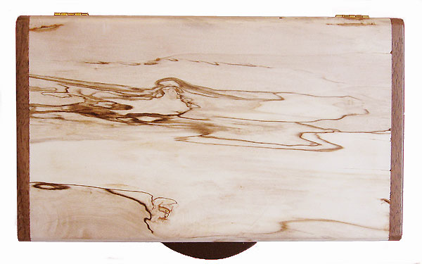 Bleached spalted maple box top - Handmade decorative keepsake box