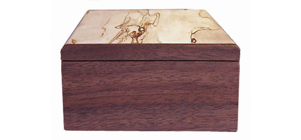 Walnut box end - Handmade decorative wood keepsake box