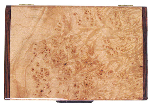 Maple burl box top - Handcrafted decorative wood keepsake box