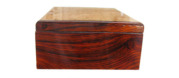 Cocobolo end - Handcrafted wood decorative wood box