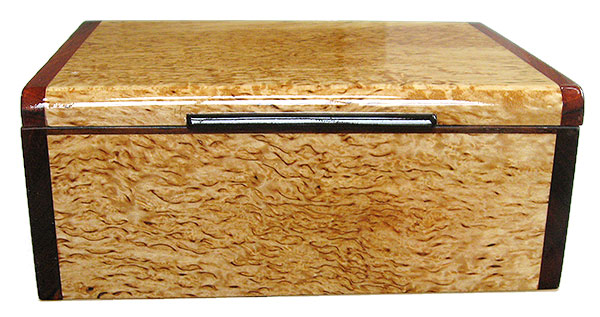 Masur birch box front - Handcrafted decorative wood keepsake box