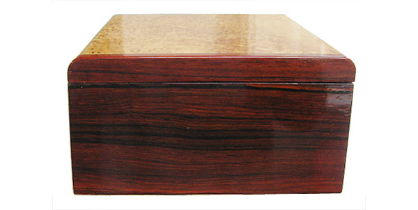 Cocobolo box end - Handcrafted wood box