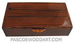 Handcrafted wood box - Decorative wood keepsake box made of palisander