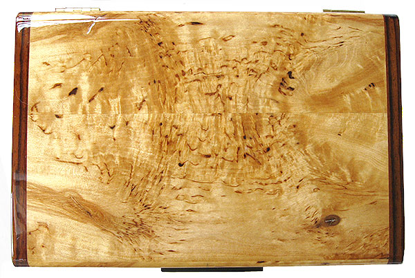 Masur birch  handmade box top - Decorative wood keepsake box
