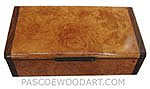 Handmade wood box - Decoratie wood keepsake box made of maple burl with Santos rosewood ends