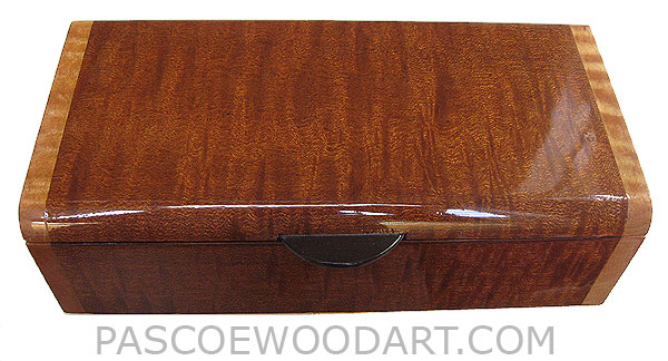 Handmade wood box - Decorative wood box made of tiger stripe sapele with tiger maple ends
