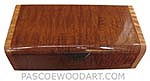 Handmade wood box - Decorative wood keepsake box made of tige stripe sapele with tiger maple ends