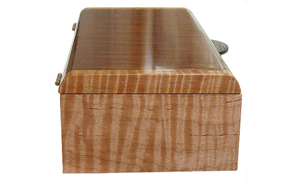 Tiger maple box end - Handmade wood box
