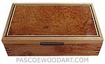 Handmade wood box - Decorative wood keepsake box made of figured maple with amboyna burl top