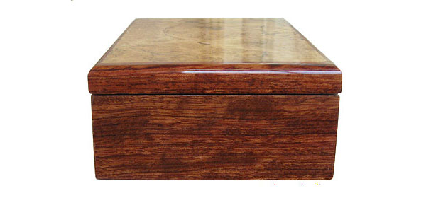 Bubinga box end - Handmade decorative wood box