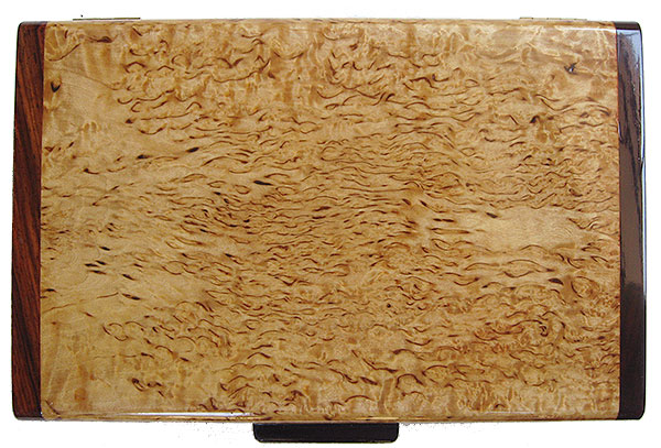 Masur birch box top - handcrafted decorative wood keepsake box