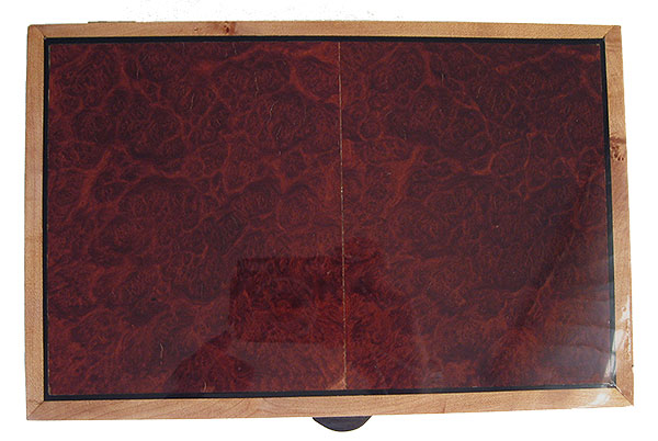 Red mallee burl box top - Handmade decorative wood keepsake box