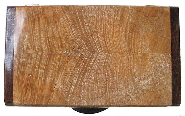 Figured maple boxtop - Handmade decorative wood keepsake box