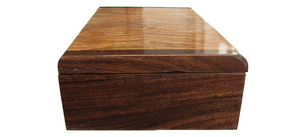 Santos rosewood box end - Handmade decorative keepsake box